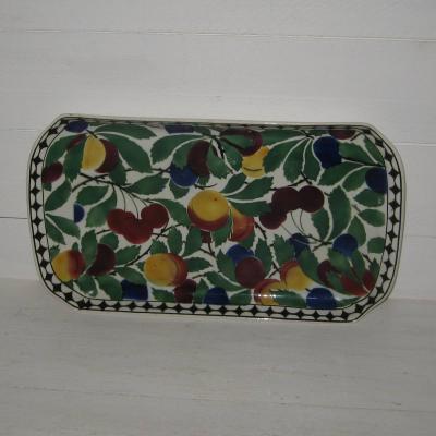 Ancien plat décoré de cerises prunes etc… Villeroy et Boch Wallerfangen modèle 2595