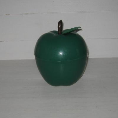 Seau à glace glaçons pomme verte plastique vintage seventies sixties