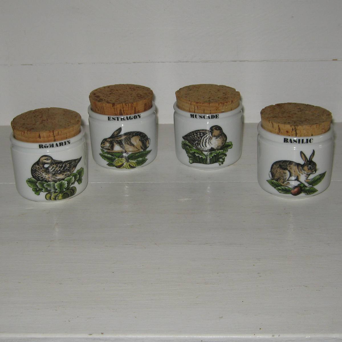 Porcelaine d auteuil 4 pots serie chasse 1