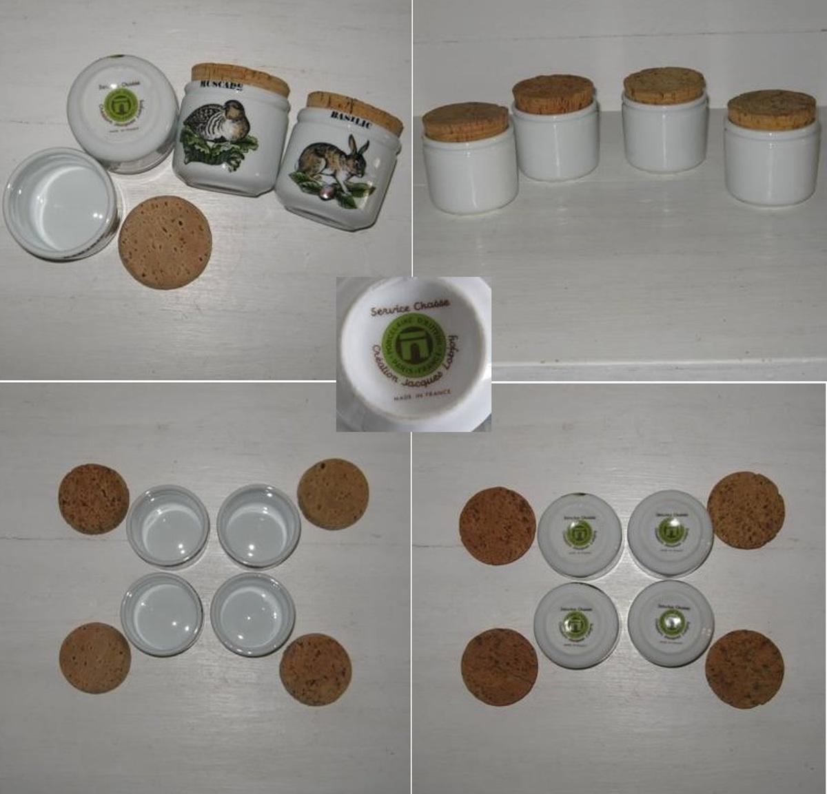 Porcelaine d auteuil 4 pots serie chasse 2
