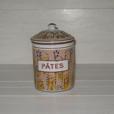Ancien pot à épices en tôle émaillée PÂTES modèle 17951 BB