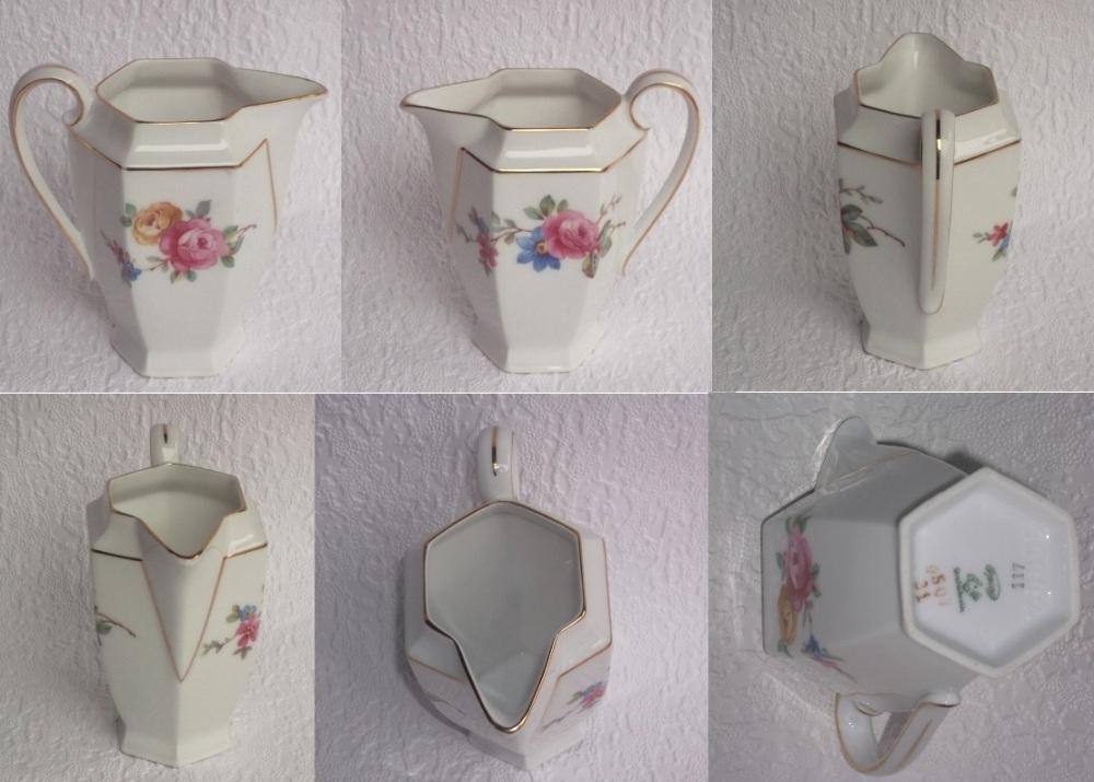 Pot a lait fleurs roses etc 2