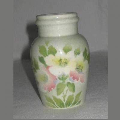 Pot à moutarde faïence de Luneville décor fleurs (1)