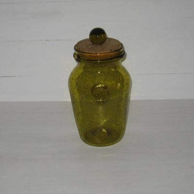 Grand pot en verre bullé verrerie de Biot
