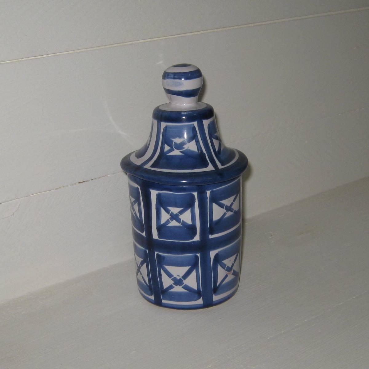 Pot robert picault bleu et blanc 1