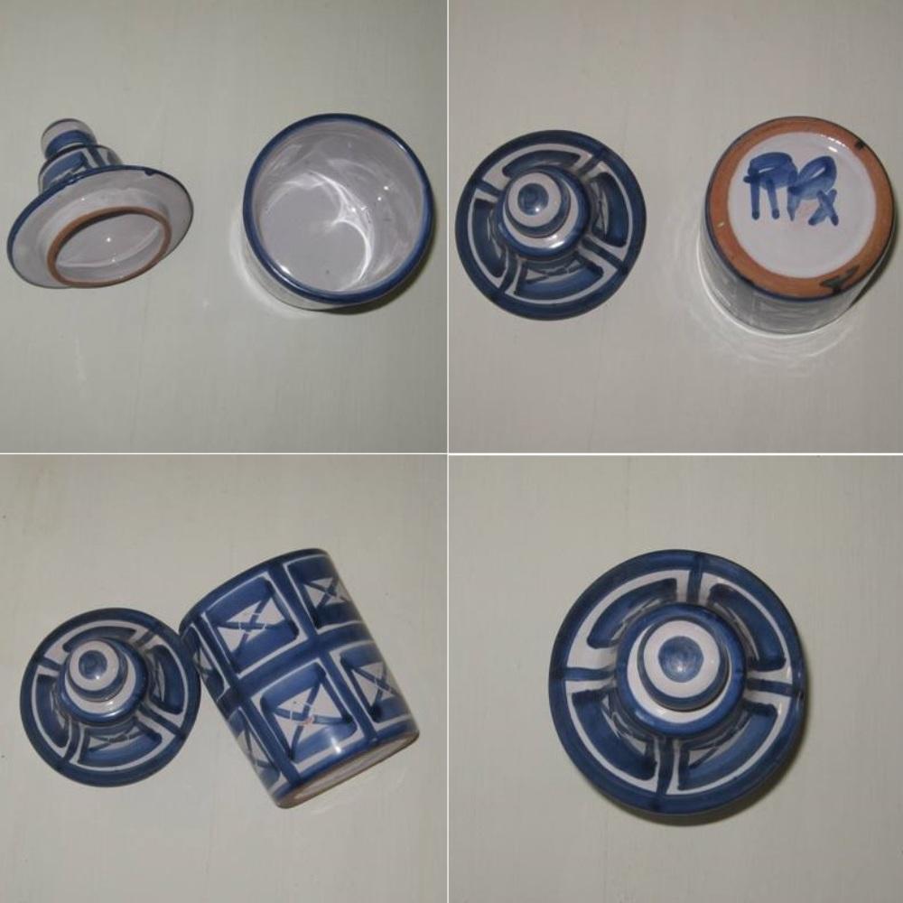 Pot robert picault bleu et blanc 2