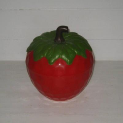 Fraise rouge seau à glaçons vintage années 70 80