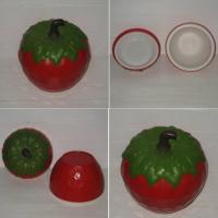 Seau a glace retro bac a glacons vintage fraise rouge 2