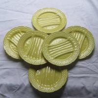 Service a asperges en barbotine jaune orchies 3