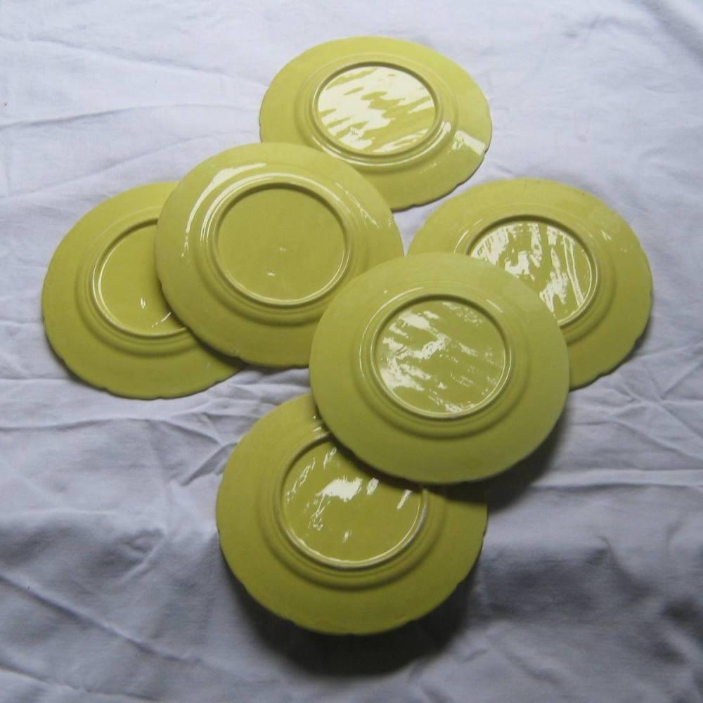 Service a asperges en barbotine jaune orchies 4