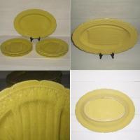 Service a asperges en barbotine jaune orchies 6