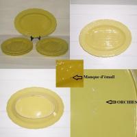 Service a asperges en barbotine jaune orchies 8