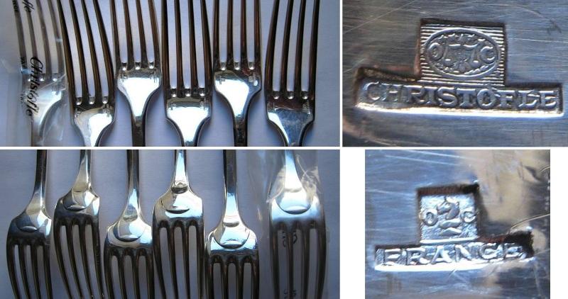 Six fourchettes christofle 13