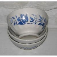 Trois anciens bols en faience decor fleurs bleues 5
