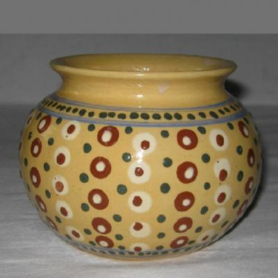 Ancien vase boule signé Elchinger et Cie 10